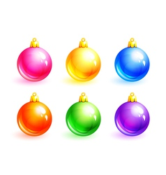 set of christmas balls eps10 vector image
