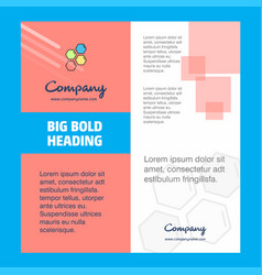 shells company brochure title page design company vector image