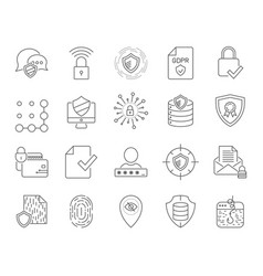 simple internet technology icons set universal vector image