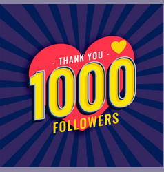 Social media 1000 followers background vector