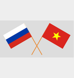 Socialist republic of vietnam and russia flags vector