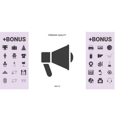 speaker bullhorn icon - graphic elements for your vector image