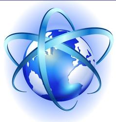 Spinning globe logo vector image vector image