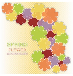 Spring flower colored background vector image