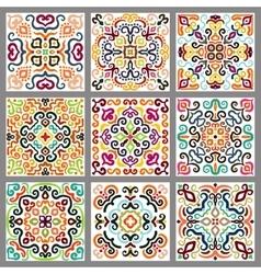 square decorative tiles set vector image