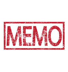 stamp text memo vector image