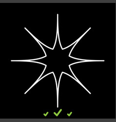 Star it is white icon vector
