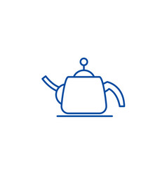 teapot line icon concept teapot flat vector image