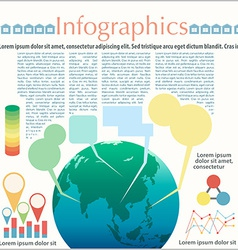 The Earths infographics vector image