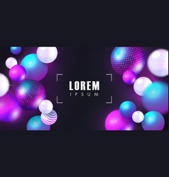 Trendy background with colored balls modern vector