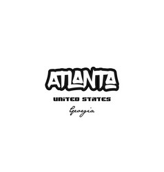United states atlanta georgia city graffitti font vector
