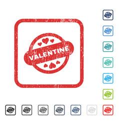 Valentine stamp seal icon rubber watermark vector