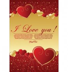 Valentine's greeting background vector image