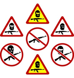 Warning signs of terrorism vector