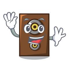 Waving speaker character cartoon style vector