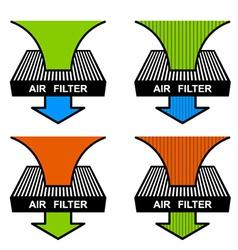 air filter symbols vector image