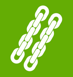 Chains icon green vector