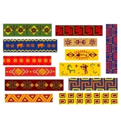 Ethnic african patterns with tribal ornaments vector image vector image