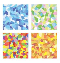 mosaic seasons vector image