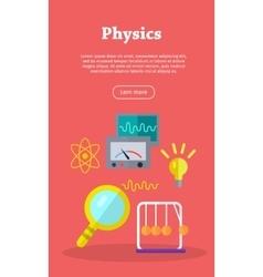 Physics web banner website template vector