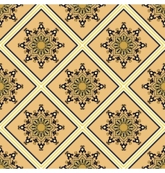Seamless blue pattern in ethnic oriental style vector image vector image