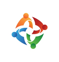 Teamwork union people vector image vector image