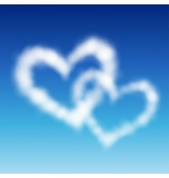 two heart shaped vector image