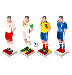 world cup football group vector image