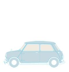 classic mini vector image