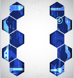 abstract digital communication technology vector image vector image
