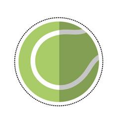 cartoon tennis ball racket sport icon vector image