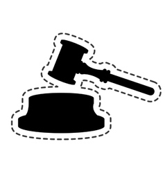 gavel judge isolated icon vector image