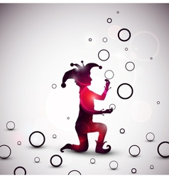 Jester juggling rings vector image