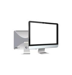 Two monitors vector image