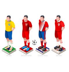 world cup football shirts vector image vector image
