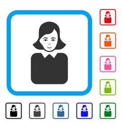 bureaucrat woman framed enjoy icon vector image