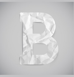 letter made by crumpled paper with shadows vector image