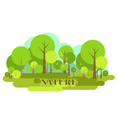 nature of the environment vector image vector image