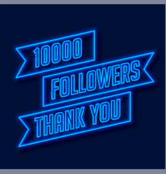 1000 followers network thank you poster vector image