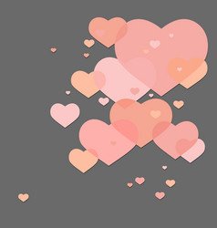 Abstract valentine hearts vector