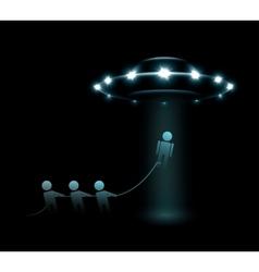 Alien abduction vector image
