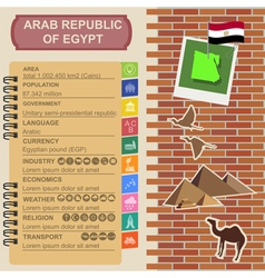 Arab republic Egypt infographics statistical data vector image