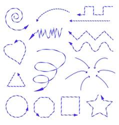 Arrows blue vector