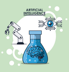 artificial intelligence technology vector image