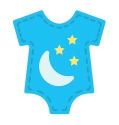 Baby romper flat icon clothes and kid vector