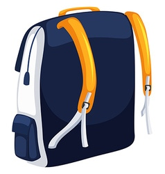 Backpack with blue and yellow colors vector image
