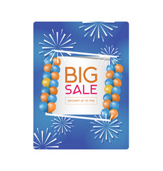 big sale poster this weekend vector image