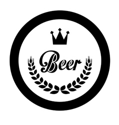 Black beer related emblem icon image vector