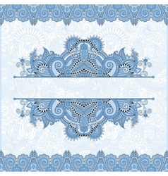 Blue colour floral decorative invitation card vector