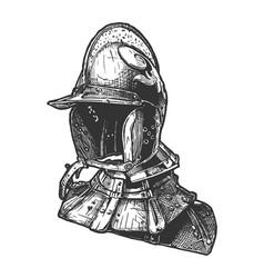 burgundian sallet with gorget vector image
